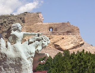 Crazy Horse Memorial  The world's largest mountain carving, located in the Black Hills of South Dakota
