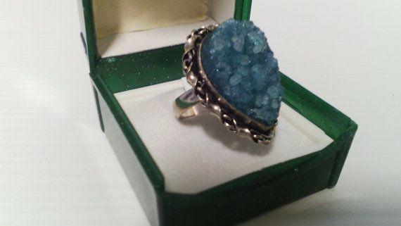 Anello pietre titanium 925 Sterling Silver di Rosasbijoux su Etsy