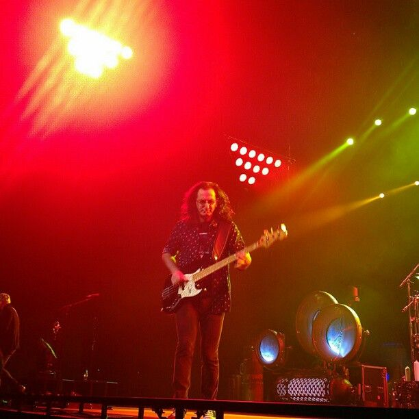 Rush rocking out at Barclays Center on their #clockworkangelstour