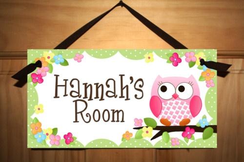 Cute Owl Room Signs