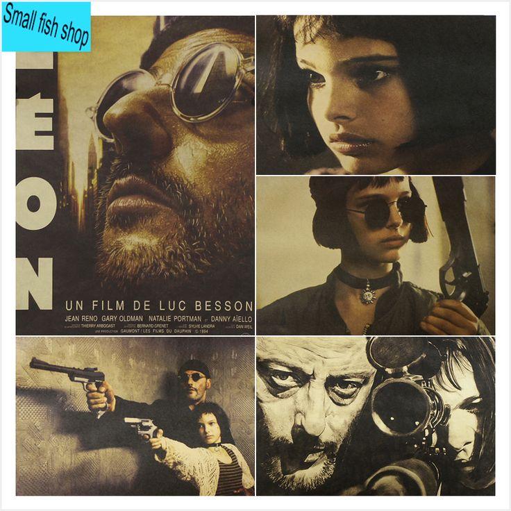 Leon - The Professional Natalie Portman Jean Reno Home Furnishing decoration Kraft Movie Poster Drawing core Wall stickers
