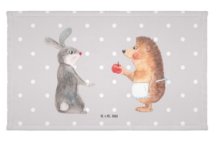 """Gäste Handtuch Liebe ist nie ohne Schmerz aus Kunstfaser  Natur - Das Original von Mr. & Mrs. Panda.  Das wunderschöne Gästehandtuch von Mr. & Mrs. Panda wird liebevoll von uns bedruckt und hat die Größe 30x50 cm.    Über unser Motiv Liebe ist nie ohne Schmerz  """"Liebe ist nie ohne Schmerz"""" sagte der Hase und umarmte den Igel - unsere wunderschöne handgezeichnete Tasse aus dem Hause Mr. & Mrs. Panda    Verwendete Materialien  Die verwendete sehr hochwertige Kunstfaser ist langlebig…"""