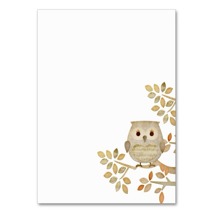Musical Tree Owl Business Card. Make your own business card with this great design. All you need is to add your info to this template. Click the image to try it out!