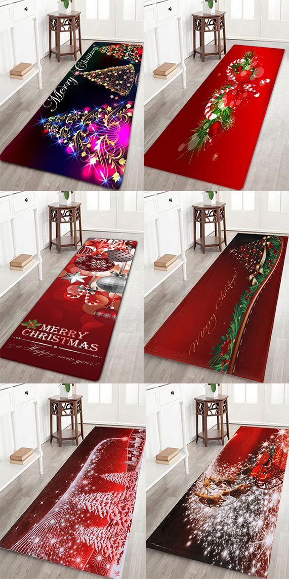 home decor ideas:Christmas bath rugs to decorate your bathroom