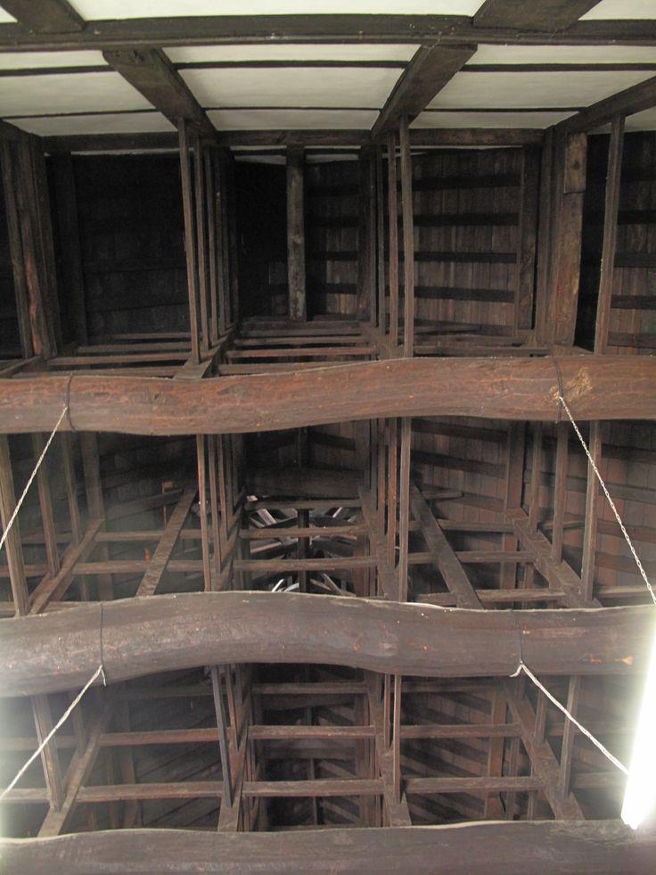 松島 瑞巌寺庫裡 見上げると美しい木組みが