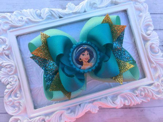 JASMINE BOWS  Princess Jasmine hair bow  Jasmine costume