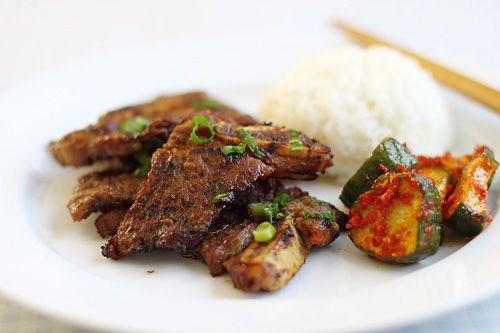 Kalbi (Korean BBQ Beef Short Ribs) - secret ingredient, use Asian pear ...