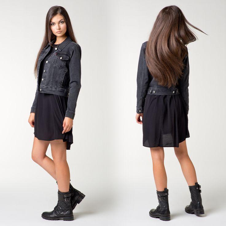 #brandpl #brand #dress #newcollection #fallwinter14 #fw14 #levis #blackdress #black #trucker #jeans #jacket