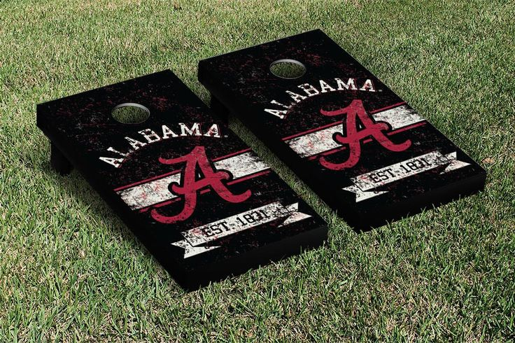 Cornhole Board Sets - University of Alabama Crimson Tide. Really fun game.