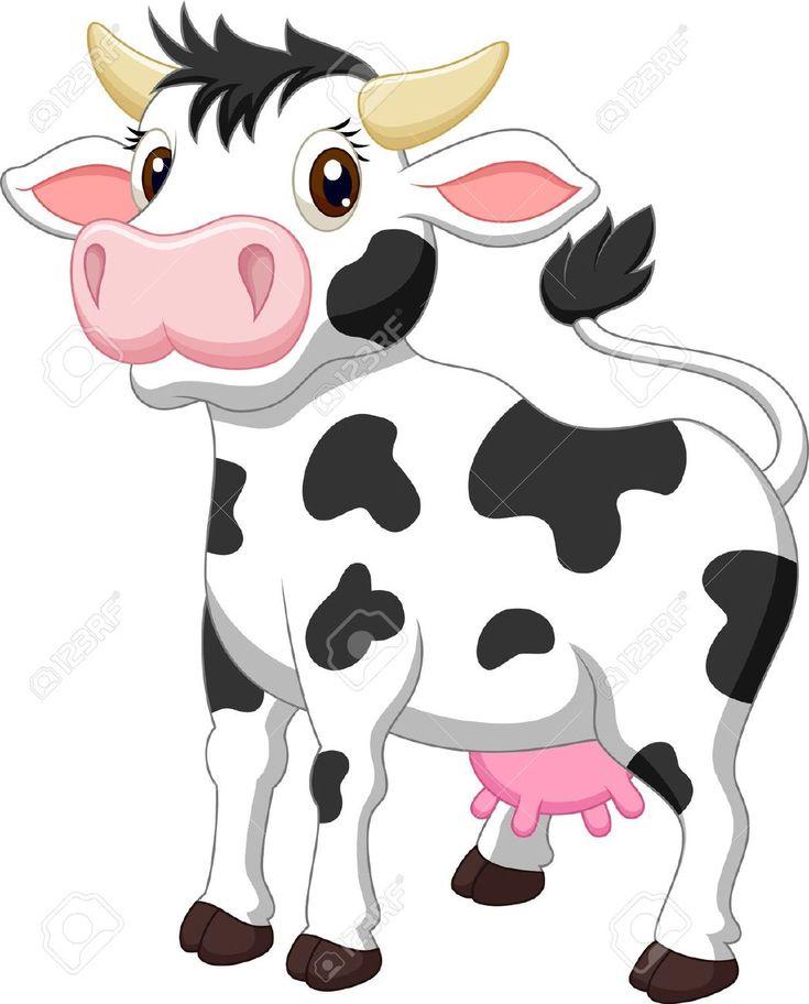 Cute cow cartoon  Stock Vector