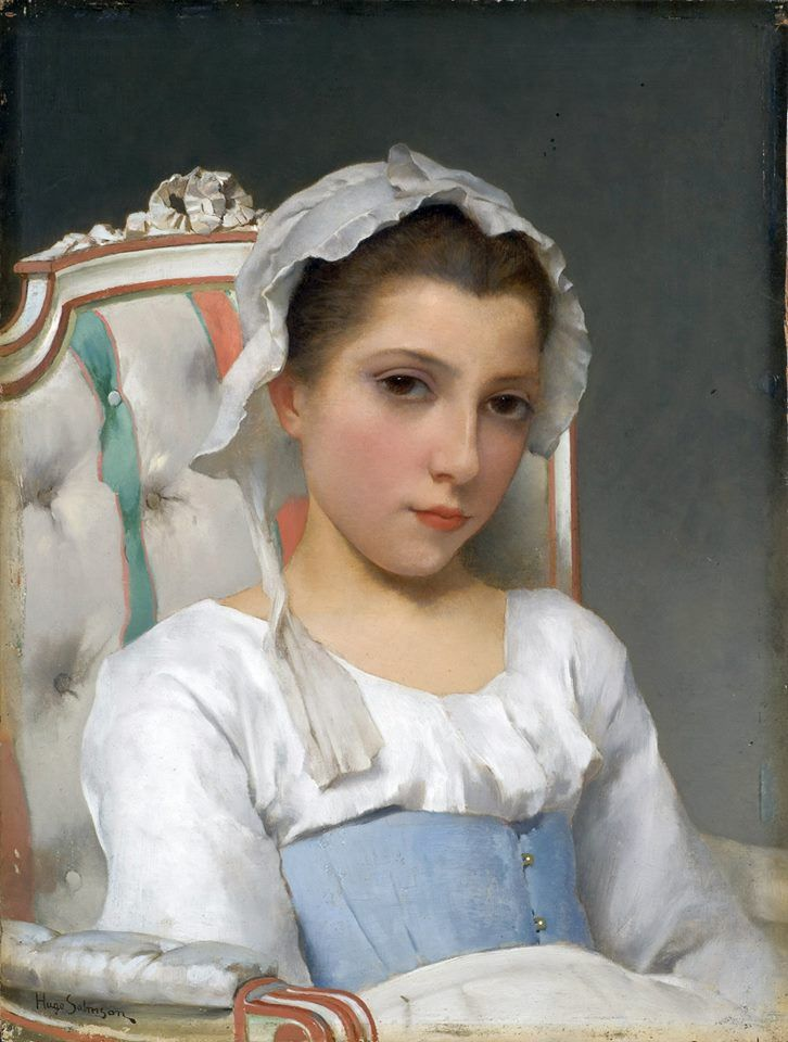 Hugo Salmson Portrait of a Young Girl), s.d., oil on panel