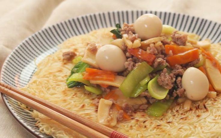 あんがとろり麺はパリパリあんかけ堅焼きそうめんの作り方