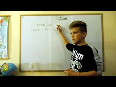 Sume Gauss pt clasa a V a - episodul 2 - YouTube