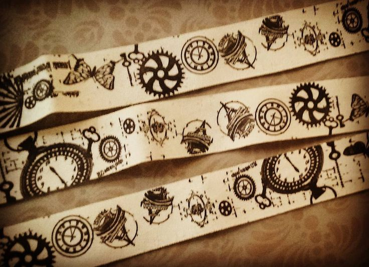Absolutely love the print on this cotton ribbon. Maybe an ingredient for the next steampunk project?  www.CosBits.com #Cosbits #steampunk #ribbon #printedribbon #vintageprint #clockwork #haberdashery #cotton #cottonribbon #stamp #Adelaide #adelaidecraft #adelaidesteampunk #steampunksa