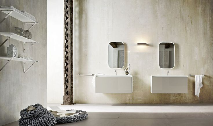 Ergo_nomic by Giulio Gianturco joins efficiency and innovation, using advanced solutions such us controls and mixers in steel and Corian®, integrated with washbasins and bathtubs, easy to reach also lying down. #design #inspiration #bathroom #bath #materials #Corian® #Korakril™