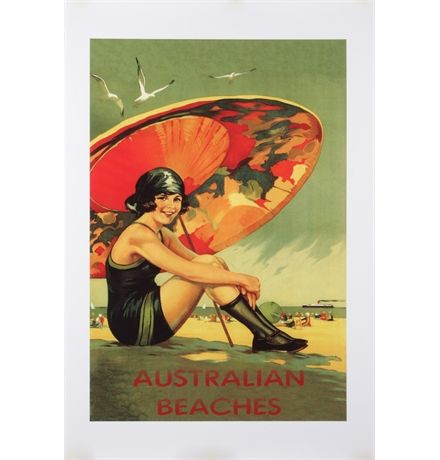 Australian Beaches Poster Large matt blatt $198 90x130