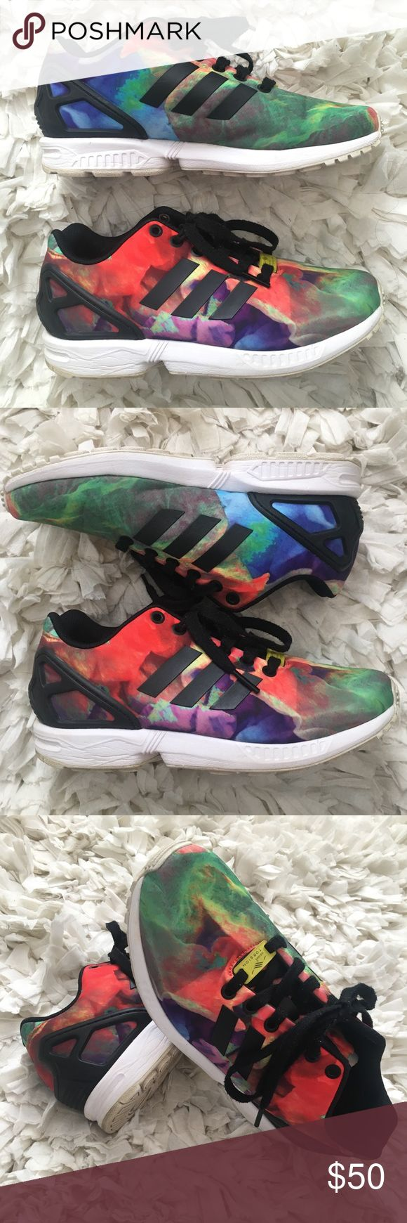 adidas zx flux (multicolor) these sneakers are definitely a work of art! great condition. adidas Shoes Sneakers