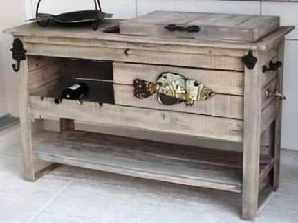 Reclaimed Wood or Pine Beverage Center by FurnishingsWithaPast