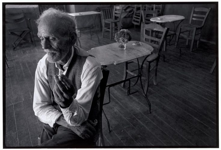 Constantine Manos  Greece. Crete. Gerolimena. 1964. Owner of the cafe.
