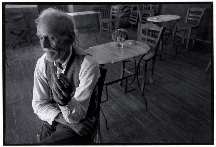 Constantine Manos  Greece. Crete. Gerolimena. 1964. Owner of the cafe.
