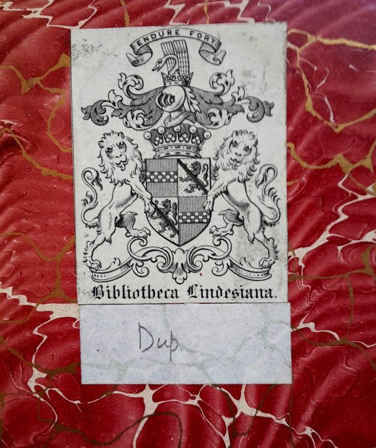Ex-libris de James Ludovic Lindsay FRS, FRAS, 26e comte de Crawford et 9e comte de Balcarres, est un astronome amateur et un philatéliste britannique, né le 28 juillet 1847 à Saint-Germain-en-Laye et mort le 31 janvier 1913 à Londres. Il a amassé une immense bibliothèque spécialisée, léguée au British Museum et conservée par la British Library. Héritier de la Bibliotheca Lindesiana commencée par son père dans le domaine de la littérature, l'histoire, de la musique et des sciences.