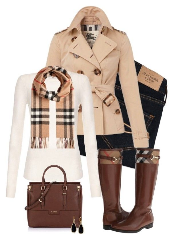 Burberry Anyone? by kerimcd on Polyvore featuring polyvore, moda, style, Citizens of Humanity, Burberry, Abercrombie & Fitch, Kate Spade, fashion and clothing