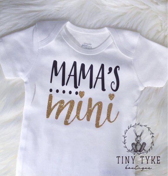 glitter shirt Baby Shower new baby gift baby bodysuit baby girl gift New Baby Gift Mama/'s Mini Me Bodysuit trendy Baby Girls Clothes