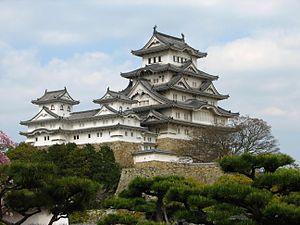 "Himeji-jo (aka Hakura-jo ""White Egret Castle"" or Shirasagi-jo ""White Heron Castle"") -- one of the finest examples of Japanese Edo period castles."