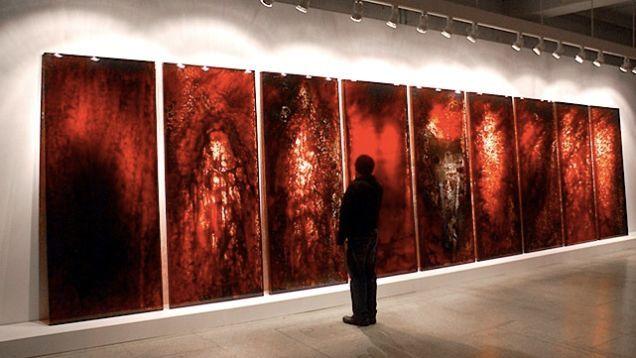 Blood based artwork - Jordan Eagles