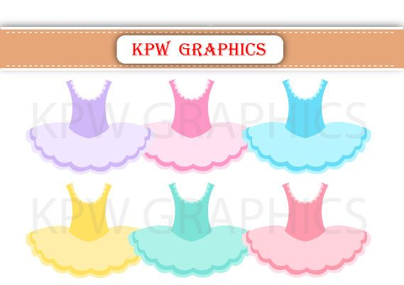 Colorful Ballerina Dresses PNG Personal & Small by KPWgraphics