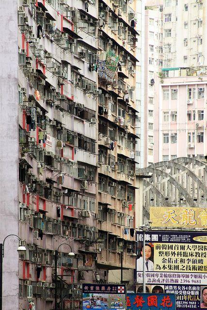 Travel Asian HongKong old town Density