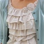 $1 Discount Tee to Ruffled Style Statement!