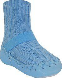 Pusat Sepatu Bayi Laki Laki - Nowali Moccasins - Kabel Knit Light Blue (Ukuran-24bulan)   Pusat Sepatu Bayi Terbesar dan Terlengkap Se indonesia