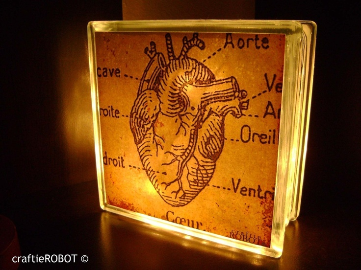 vintage anatomical heart double-sided LAMP / NIGHTLIGHT. $25.00, via Etsy.