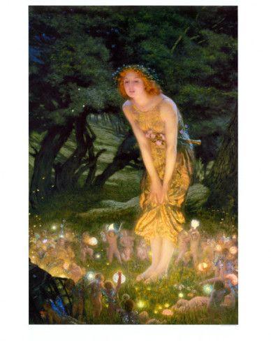 Midsummer Eve, c.1908 Print by Edward Robert Hughes at AllPosters.com