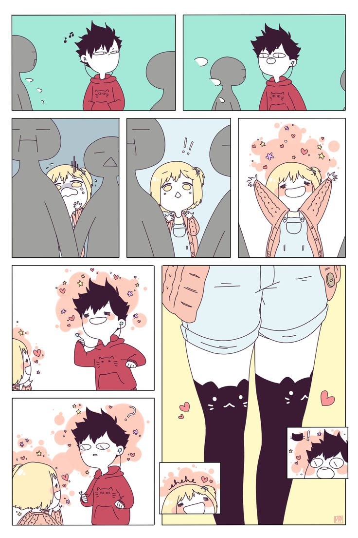 """tsukino-rui: """"in which yachi nervously awaits her cat man at the station an hour ahead of schedule (because what if he's early, right??), and kuroo takes a 3hr train ride to miyagi to see the smallest, cutest bird he's ever seen (she's like. 4'11""""...."""