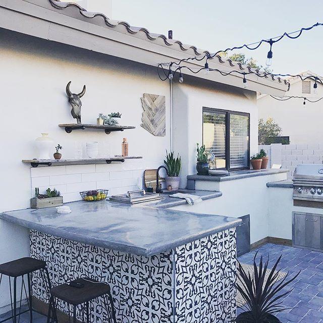Cement Tile Shop Encaustic Cement Tile Phoenix Outdoor Remodel Outdoor Kitchen Bars Outdoor Kitchen Design