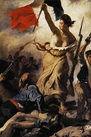 Eugène Delacroix, Liberty Leading the People (detail), 1830, olieverf op doek, 260 x 325 cm, Louvre, Parijs.