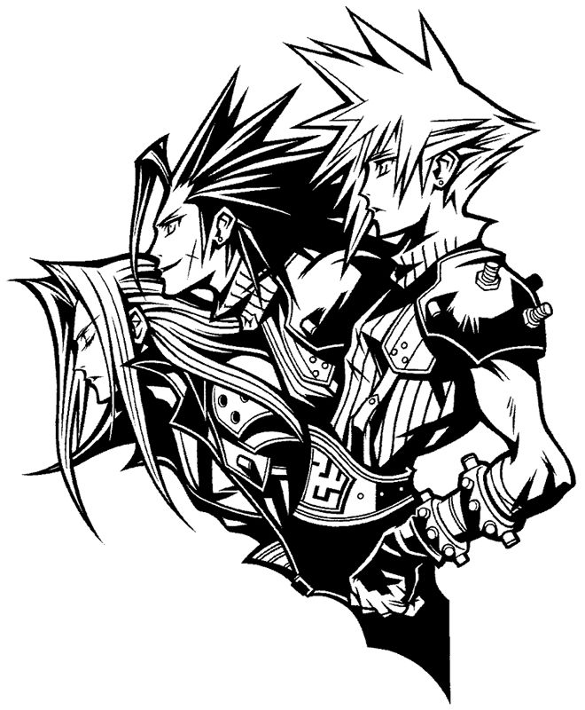 Final Fantasy 7; this would make an AWESOME tattoo for someone who grew up with this game!