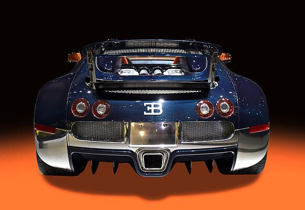 Bugatti luxury sport car back view