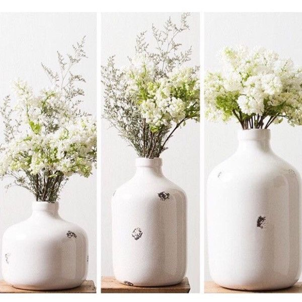 These vases are BEAUTIFUL and there are so many ways to use it!! Change out the flowers for different seasons! I personally LOVE these because they hold the flowers tight and you don't have to worry a