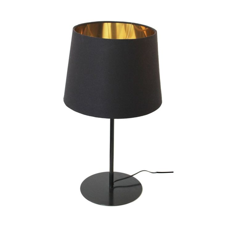 This Metal Upright Table Lamp comes with a mild steel base and Tapered Drum Black and Gold Lampshade. This product is custom made.