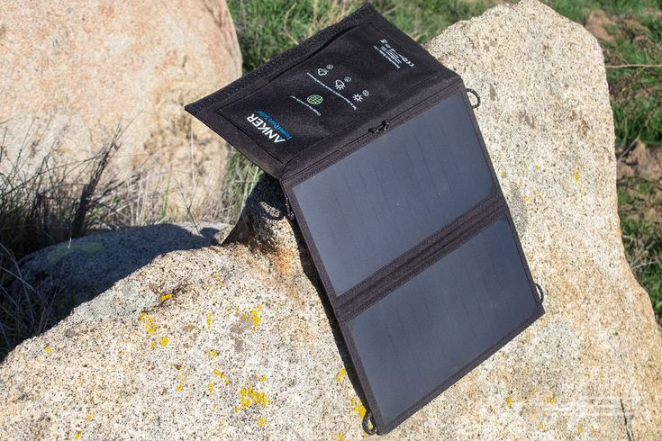 When you're off the grid, be sure to pack the Anker PowerPort Solar Lite.