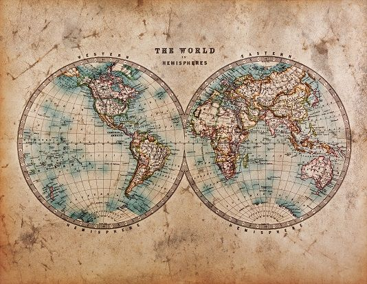 The world rustic map wallpaper ink maps wallpapers wall murals pinterest the o 39 jays - Mapamundi vintage ...