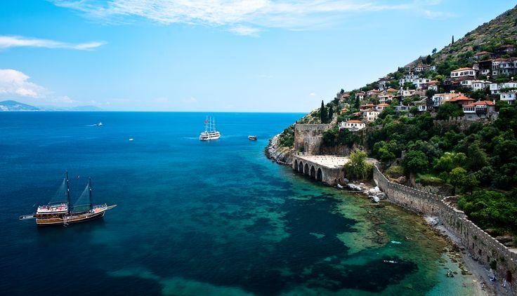 Historic coast, #Alanya, #Antalya, #Turkey.