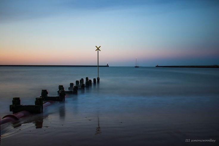 """The Evening Tide"" South Shields UK.  Simon C Woodley @simoncwoodley on Twitter"