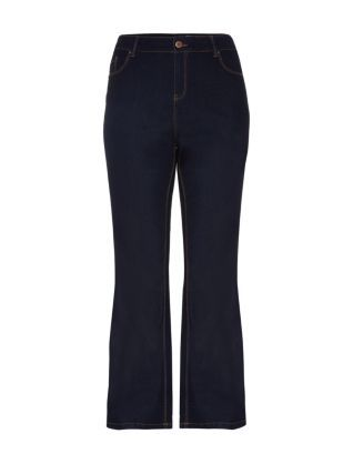 Inspire 28-36in Navy Bootcut Jeans  | New Look