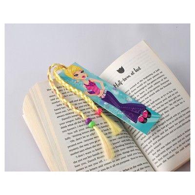 Thinking Gifts Bookbraids Bookmark, Bundle of 3 Styles - Blonde/Redhead/Brunette,