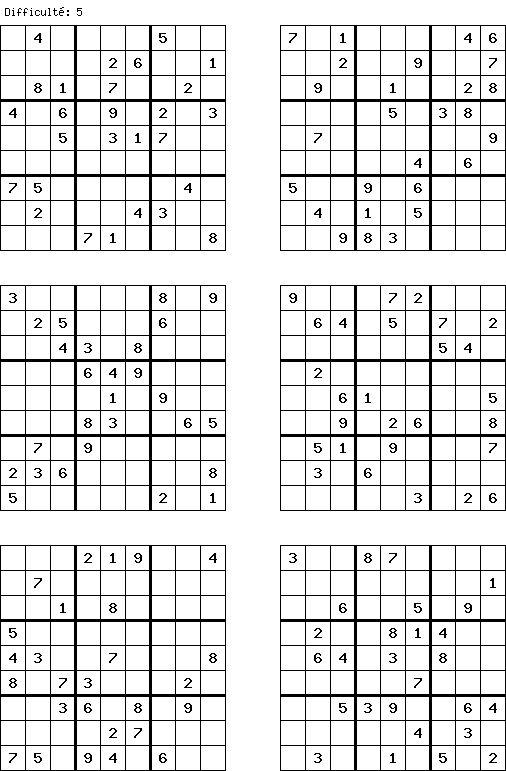 Les 25 meilleures id es de la cat gorie grille de sudoku - Plusieurs grilles de sudoku a imprimer ...