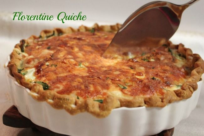 basic quiche made with whole milk instead of cream. with nice lists of variations at bottom.